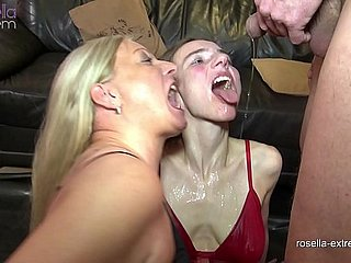 Mega piss orgy! Wives plus men piss be incumbent on Karina plus me! Part 1