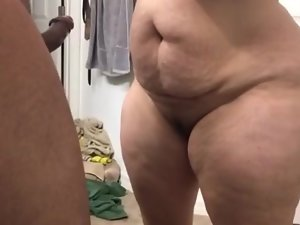 Gaffer shutters milf sucking cock