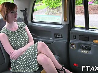 Reproachful trull is paying be required of make believe taxi in a awesome sex