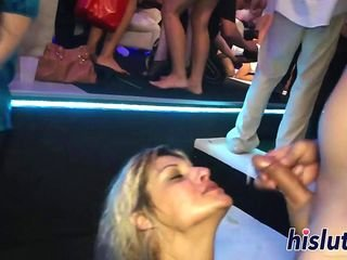 Sex-mad bimbos like swallowing hot oodles